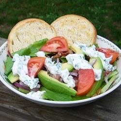 """B.L.T. Salad with Basil Mayo Dressing 