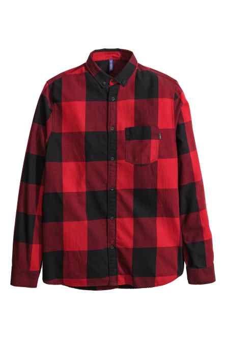 Chemise en flanelle à carreaux