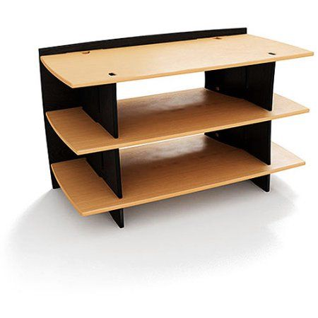 No Tools Assembly - Gaming Stand, Natural and Black