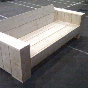 Loungebank Steigerhout, zelf maken? Download hier de bouwtekening