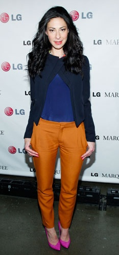 Intriguing color pairing with Stacy London
