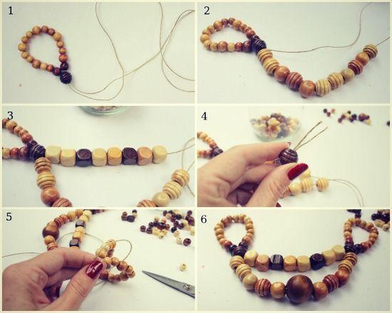 Come realizzare una collana estiva con perline di legno