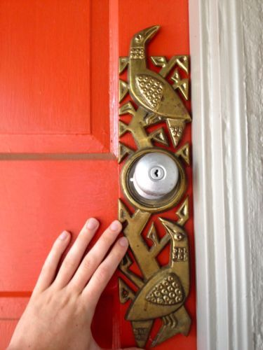 mid-century-modern-door-plate-escucheon-handle-brutalist-evelyn-ackerman-vintage