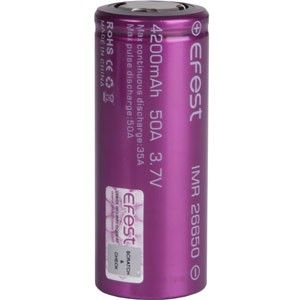 These are high quality, rechargeable batteries from Efest that are available in a variety of different sizes and capacities. Please ensure you are selecting the correct battery for your device before purchasing. Specifications: Flat Top Bottom: