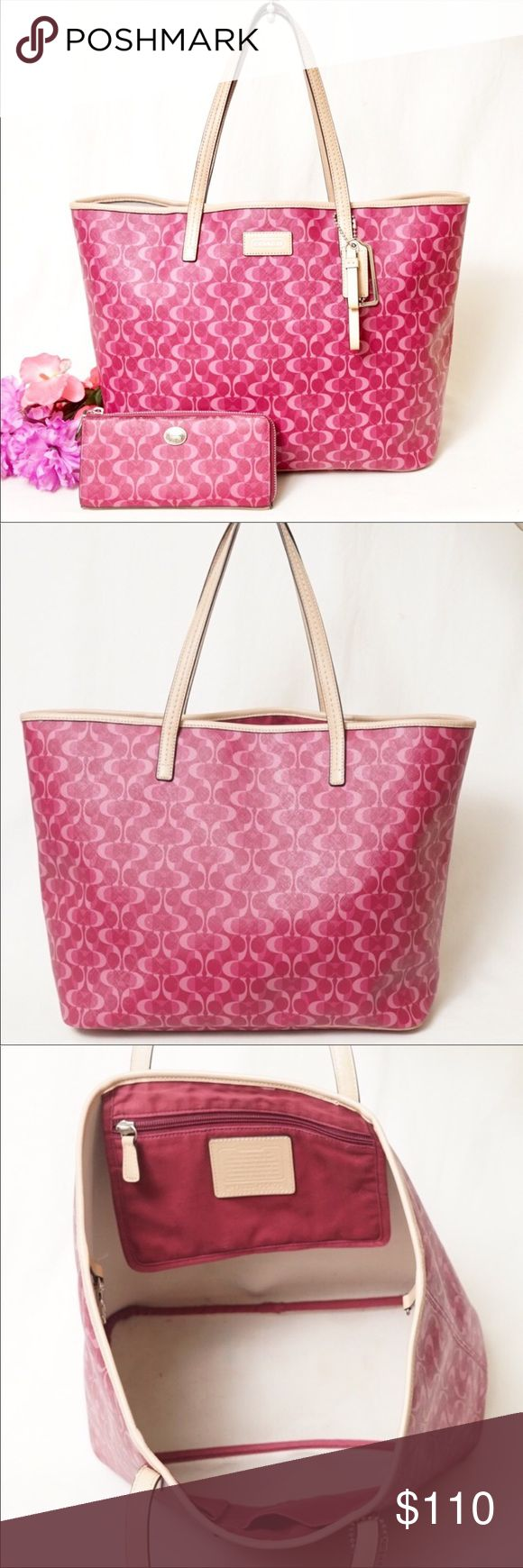 56 Off Coach Handbags Coach Mini Toiletry Or Make Up Kit From Erin - Gorgeous coach park dream c leather tote bag only