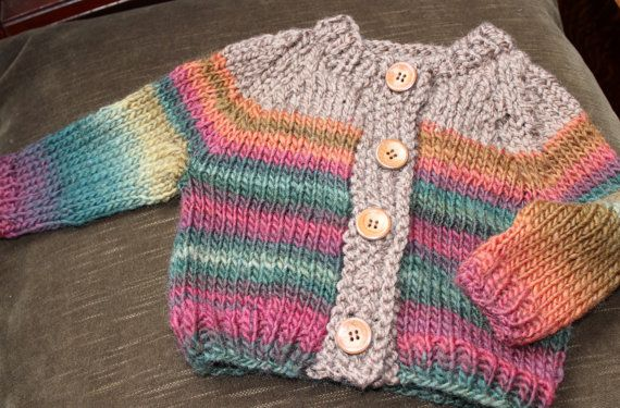 hand knit child cardigan by batchelorbuttons on Etsy