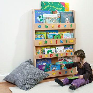 The Tidy Books Childrens Bookcase in Natural -  Kids do judge a book by its cover!