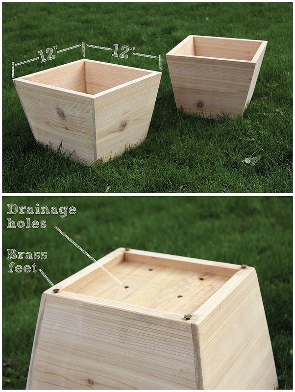 Handmade cedar planters | by William Dohman