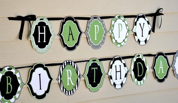our little man party printable happy birthday banner instant