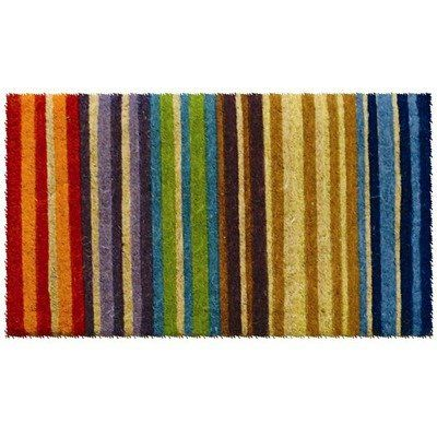 "awesome Extra Thickness Coir Rainbow Coconut Fiber Contemporary Doormat - 1'6"" x 2'6"""