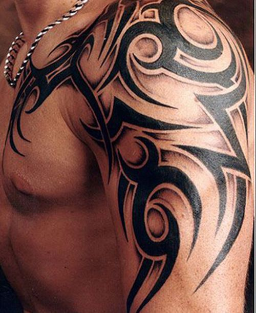 Tribal Tattoos For Guys Left Shoulder