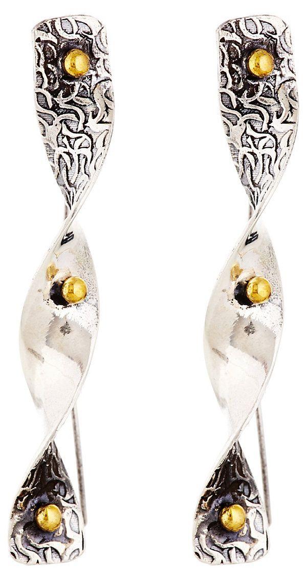 Chalcedony Vortex Earrings | The Bold