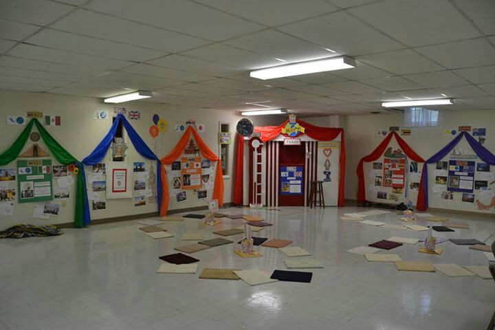 Classroom Decorations For Elementary ~ Tents around bulletins camping theme classroom