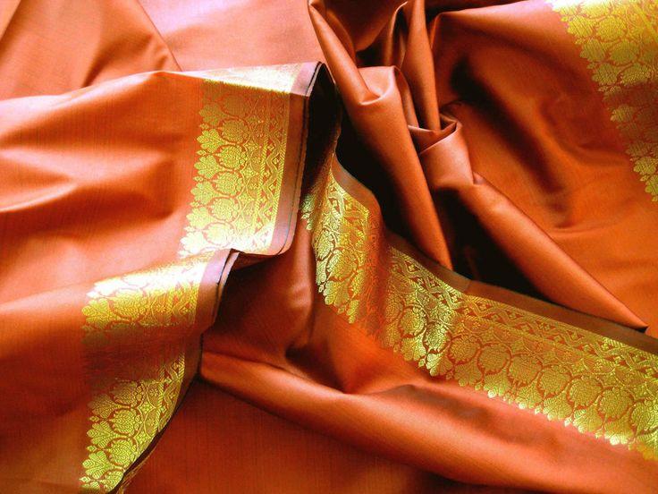 edel Sari Stoff 300cm kupfer Bollywood Indien Gardine Vorhang Event Kleid in Möbel & Wohnen, Rollos, Gardinen & Vorhänge, Gardinen & Vorhänge | eBay