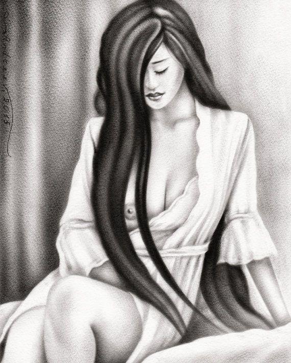 An Original Female Nude Oil Painting Fine Art by VesselinArtStudio