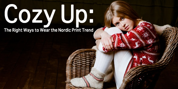 Xaxii right way to wear nordic print leggings shorts sweater dress fashion style cozy pattern print mixing matching