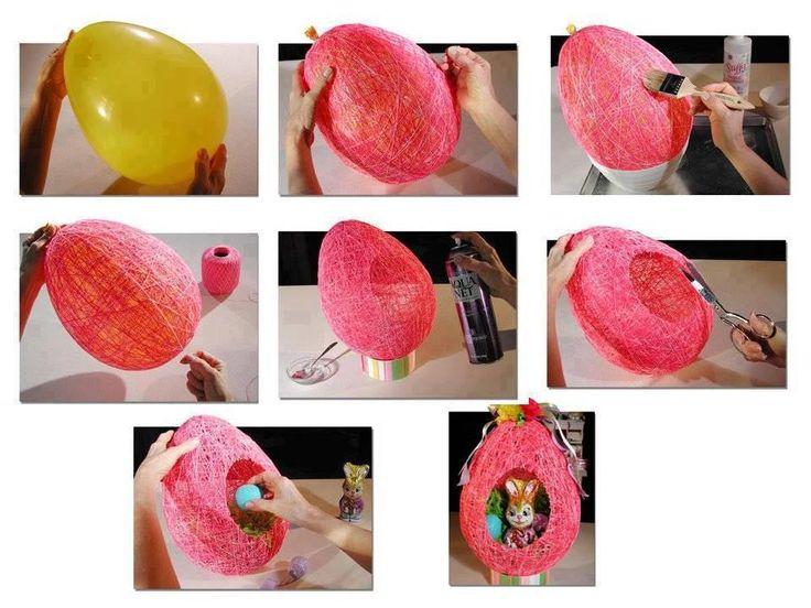 Found this on Different Solutions' FB page. My parents and I did this project together a million years ago, using sugar water and basting the string-covered balloon for several days, allowing it to dry in between. We had this for years and it made every Easter special!