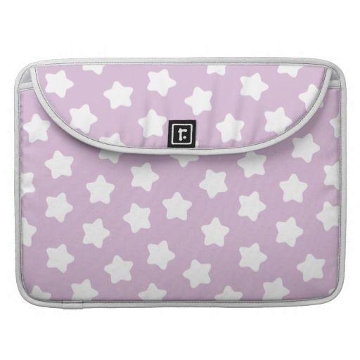 Cute Light Purple Star Pastel -Colored Macbook Pro Sleeve