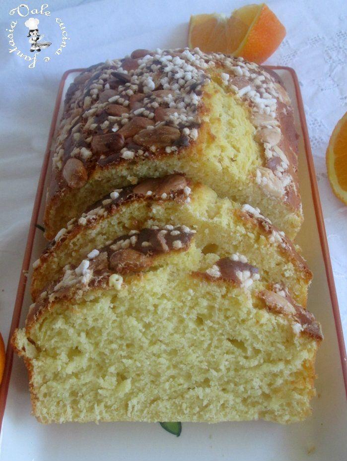 Plumcake con arancia e mandorle