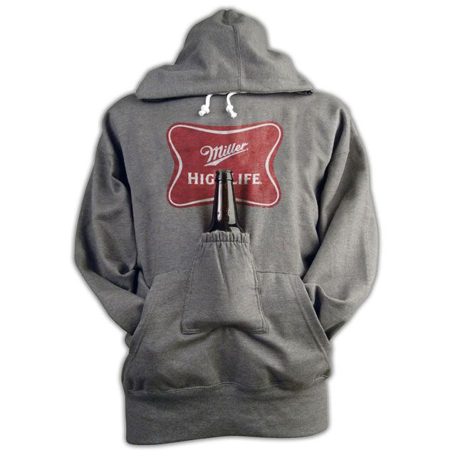 Miller High Life Beer Pouch Hoodie...awesome