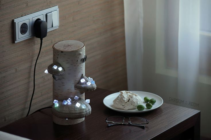 We Create Night Lamps Out Of Hand-Picked Crystals, Fallen Timber And Tree Mushrooms | Bored Panda