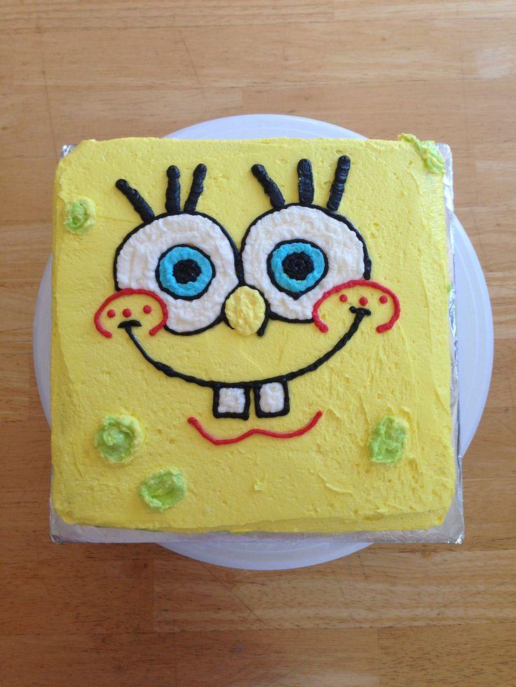 Sponge Bob Face Buttercream Cake My Bakery Projects
