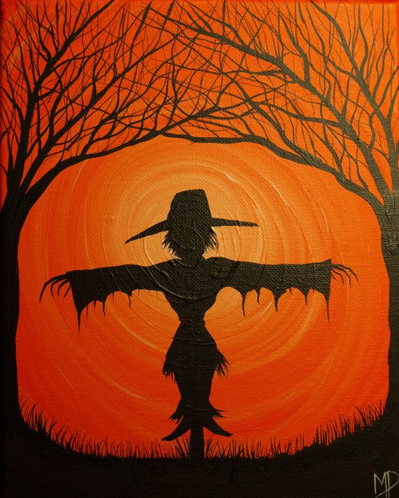 The Scarecrow No2   10  x  8  acrylic on canvas by MichaelHProsper, $25.00