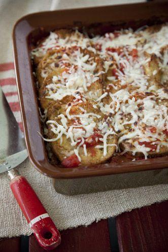 Paula Deen Eggplant Parmesan Recipe
