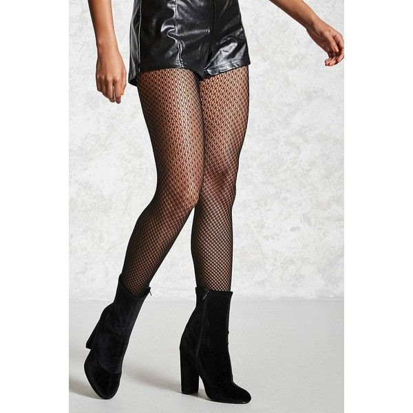 Forever21 Sheer Fishnet Tights ($4.83) ❤ liked on Polyvore featuring intimates, hosiery, tights, black, fishnet hosiery, sheer patterned tights, fishnet tights, fishnet pantyhose and fishnet stockings