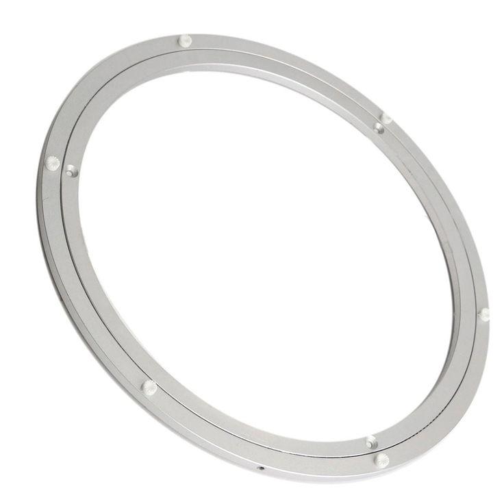 Cojinete giratorio de la Placa Giratoria Placa Giratoria de 16 Pulgadas de Plata de aluminio