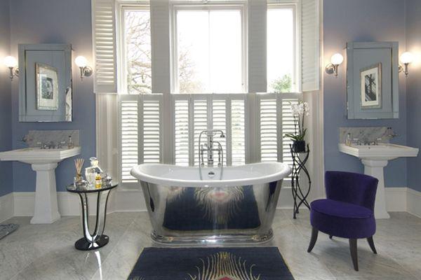 art deco bathroom ideas blue Luxurious Art Deco Bathroom Ideas