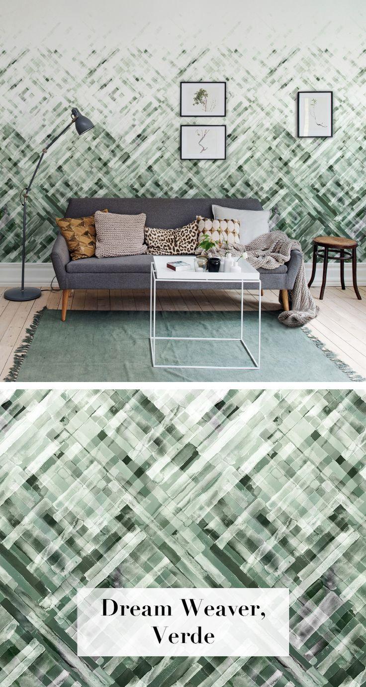 Dream Weaver, Verde | Tapeten wohnzimmer, Schlafzimmer ...