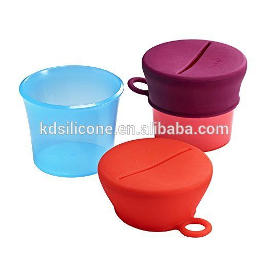 Source AMAZON supplier SNUG Snack cup bowl,Silicone Baby & Toddler Snack Cereal Bowls Cather With Lids on m.alibaba.com