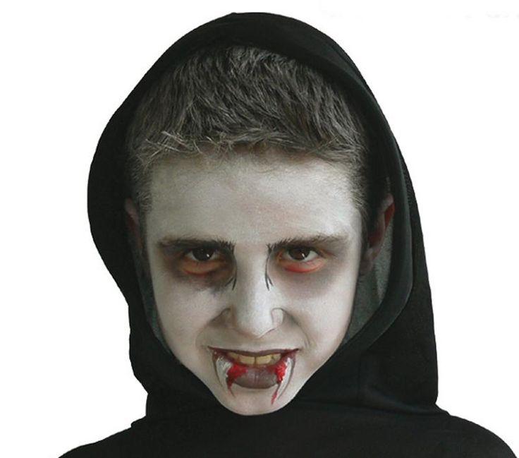 Grimtout, maquillage à l'eau, vampire étapes