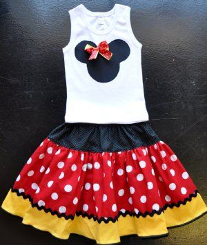 Minnie Mouse Twirl SkirtMatching Tank also Available!Personalize It with Your Child's Name!
