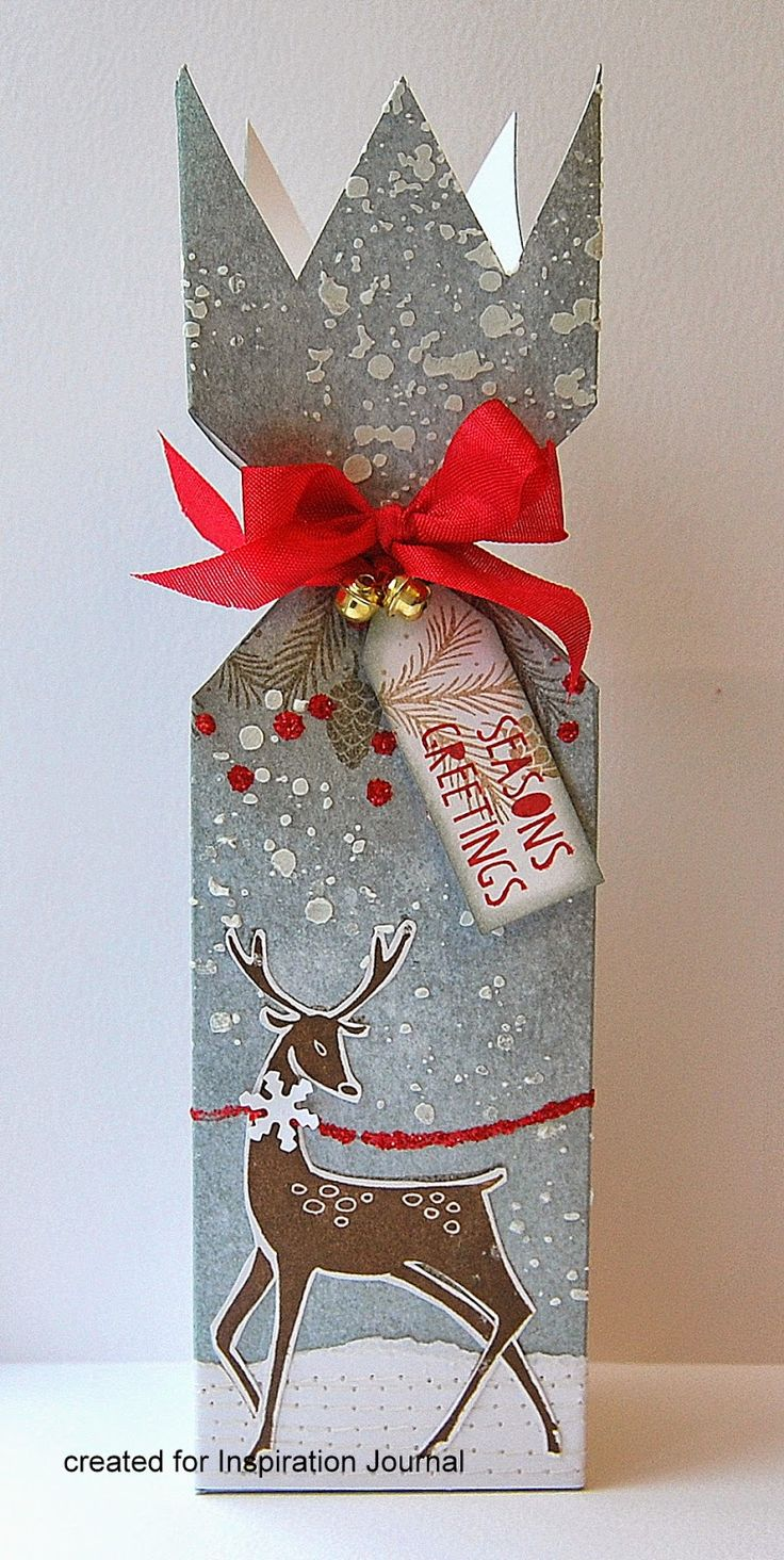 Christmas cracker box tutorial | by Kath's blog - #christmas #gift #wrapping