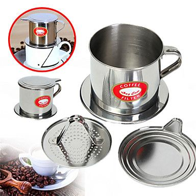 100 ml Acier Inoxydable Filtre à Café , Brew Coffee Fabricant Réutilisable avec support Coupe Manuel(le) de 5811707 2017 à €8.72