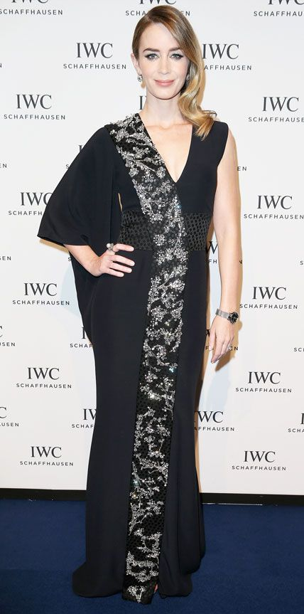 Look of the Day - January 21, 2015 - Emily Blunt in Alexander McQueen from #InStyle  This dress is stunning!!!