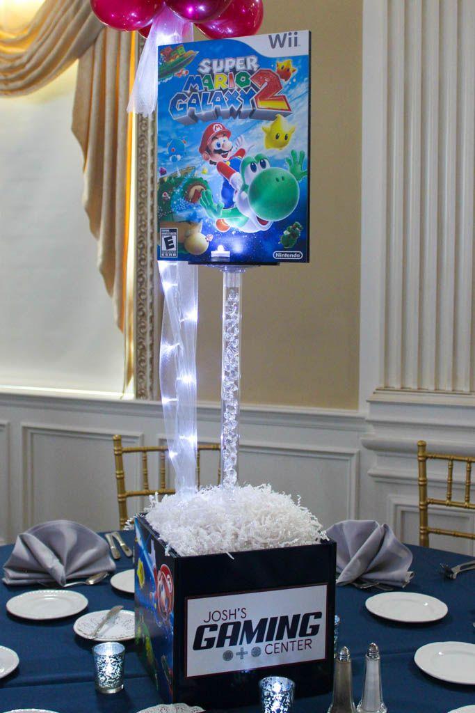 Super Mario Themed Centerpiece Super Mario Themed Centerpiece for Video Game Themed Bar Mitzvah