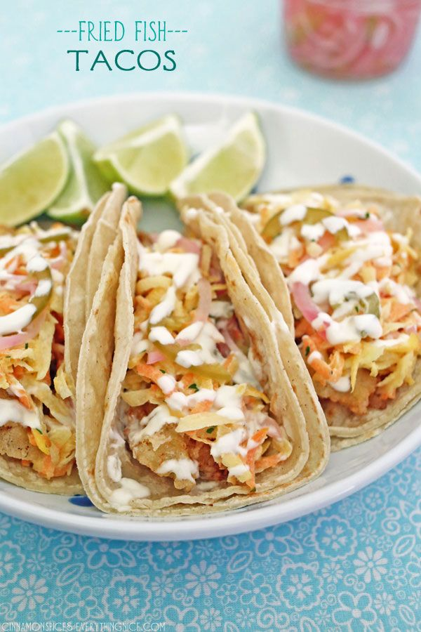 77 best images about fishy fishy on pinterest seafood for Fried fish taco recipe