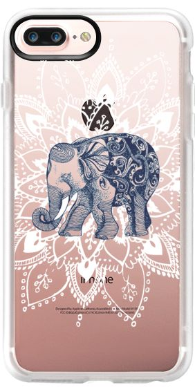 Casetify Protective iPhone 7 Plus Case and iPhone 7 Cases. Other Elephant iPhone Covers - Happy Baby Elephant by Rococcola | Casetify