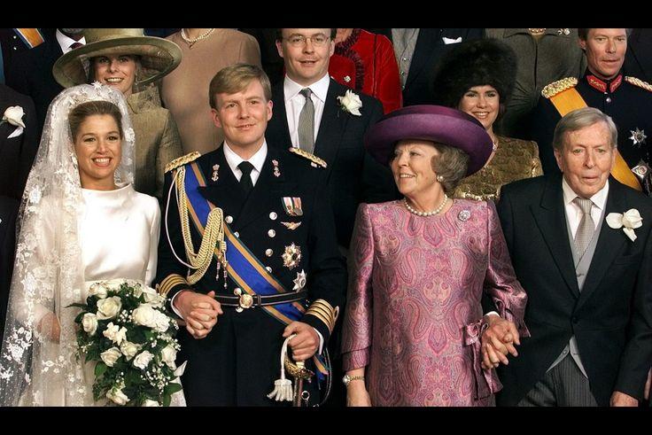Au mariage de Willem-Alexander et Maxima en février 2002