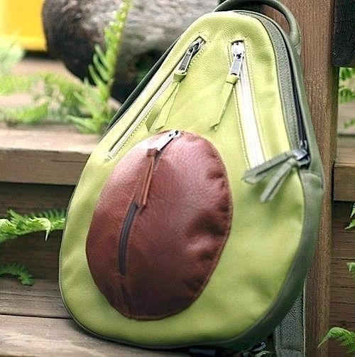 avacado backpack, I'd totally carry this to work!