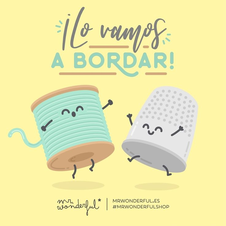 Esta semana, hilaremos muy fino. We have got it all sewn up! We won't lose the thread this week! #mrwonderfulshop #quotes