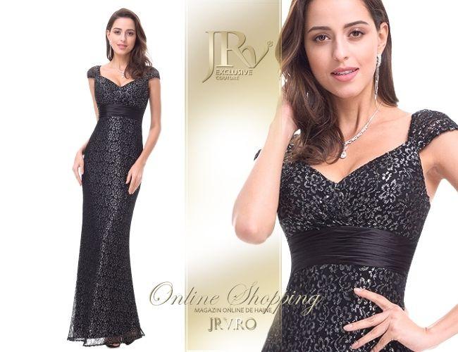Rochie de seara Yolanda Black - JRV Exclusive Couture // JRV.ro
