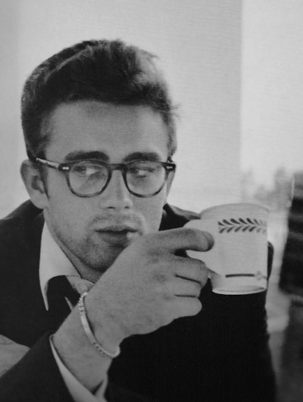 James Dean. I love a boy in glasses.