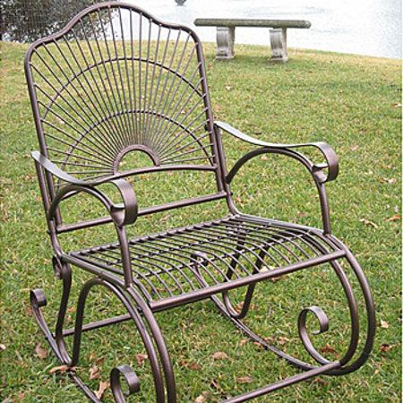 metal porch rocker metal furnituregarden