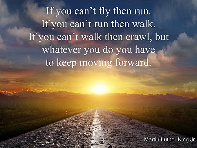 """Martin Luther King Jr. Quote Poster """"If You Can't Fly Then"""