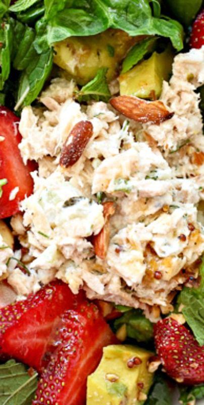Strawberry and Avocado with Tuna Salad
