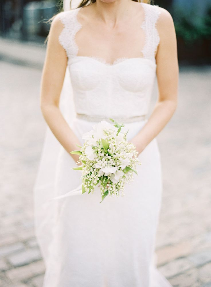 Bouquets don't always have to be huge.  Simple and elegant Lily of the Valley bouquet.